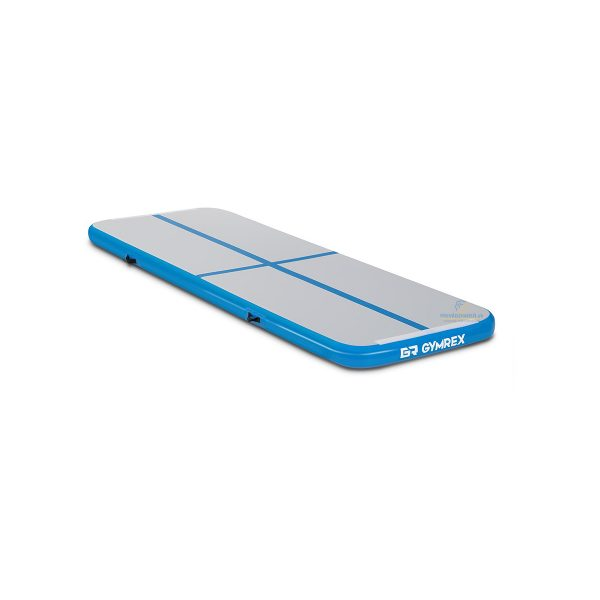 Nafukovacia žinienka - 300 x 100 x 10 cm modrá - šedá 10230104-1, vhodná na gymnastiku, bojové umenia,