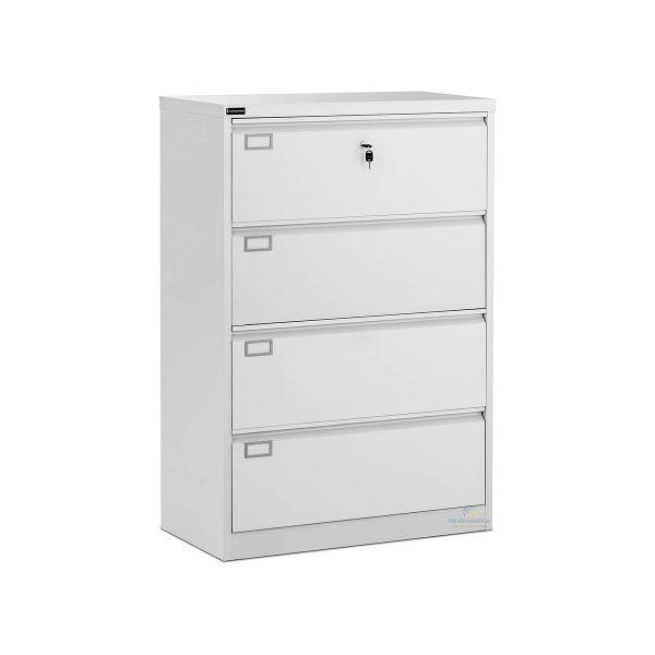 Kovová skriňa kartotéka - 132 cm | 4 zásuvky, možno ju použiť na bezpečné uloženie dôležitých dokumentov. Konštrukcia z oceľového plechu.