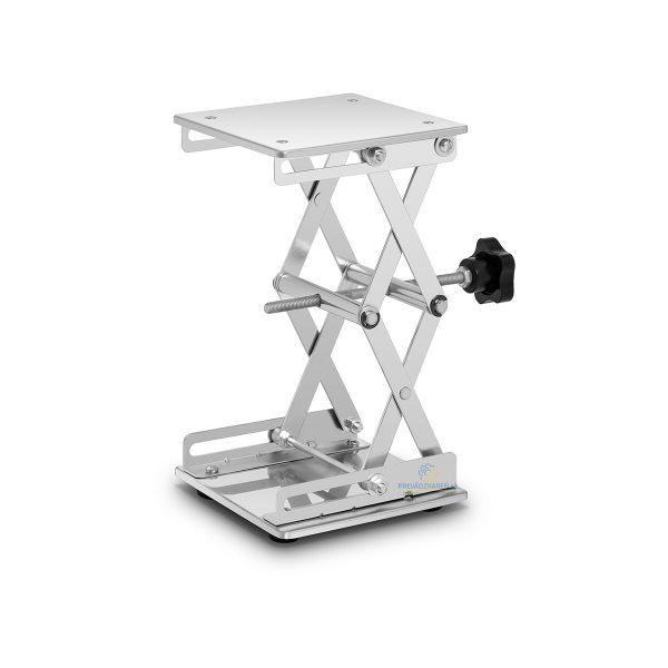 Laboratórny zdvihák 15 x 15 cm | 3 kg, Plocha: 15 x 15 cm, výška zdvihu: 7,5 až 26 cm, materiál ušľachtilá oceľ, vhodná pomôcka pre každé laboratórium.