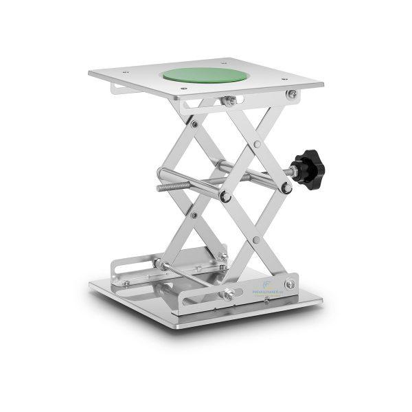 Laboratórny zdvihák 20 x 20 cm | 5 kg, nerezová oceľ, Výška zdvihu: 7,5 až 27 cm, výborný pomocník pre výskumné laboratória.