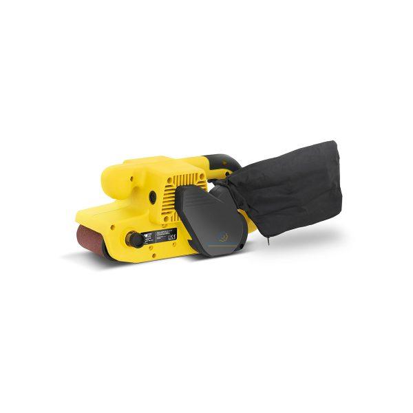 Pásová brúska - 900 W | 380 m/min vyrovná s účinným povrchom. S výkonom 900 W je užitočná a vhodná pre spracovanie dreva, ocele a plastov.