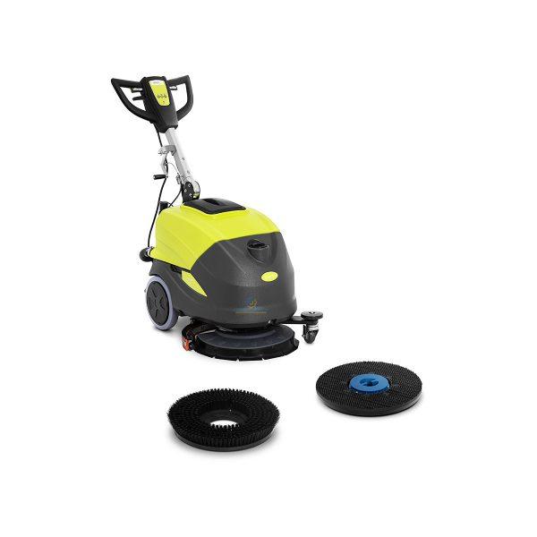 Podlahový umývací stroj - 45,5 cm | 1 450 m²/h, 18-palcovú kefu rýchlosťou 155 ot./min., 400 W sacím motorom, ktorý poháňa sušiacu lištu 550 mm.