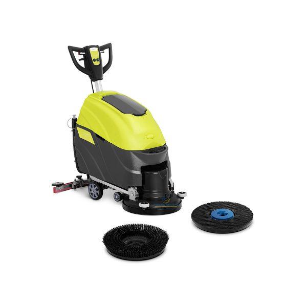 Podlahový umývací stroj - 45,5 cm - 1 600 m² / h, výkon - výkon 1600 W, rýchlosť otáčania155 ot./min. Dve samostatné nádrže na vodu.