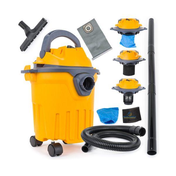 Priemyselný vysávač PM-OD-12M 1400W | sucho-mokro, sací výkon: ≥17 kPa, nízka 2,55 kg hmotnosť, kompaktnosť a mobilita pri vysávaní nečistých povrchov.
