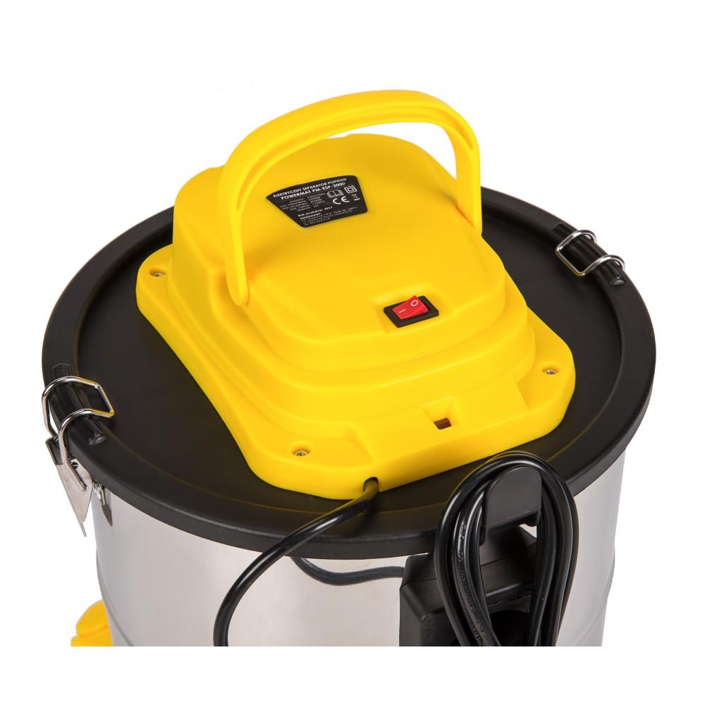 Priemyselný vysávač na popol | PM-ESP-2000 POWERMAT Priemyselný vysávač na popol model Powermat PM-ESP-2000 od spoločnosti Powermat je zariadenie s veľmi výkonným motorom s výkonom 2 000 W a jeho primeranou ochranou pomocou filtra HEPA. Prístroj sa používa na vysávanie popola z rôznych pecí, komínov a ťažko prístupných miest, kde sa hromadí prach, a ako priemyselný vysávač.