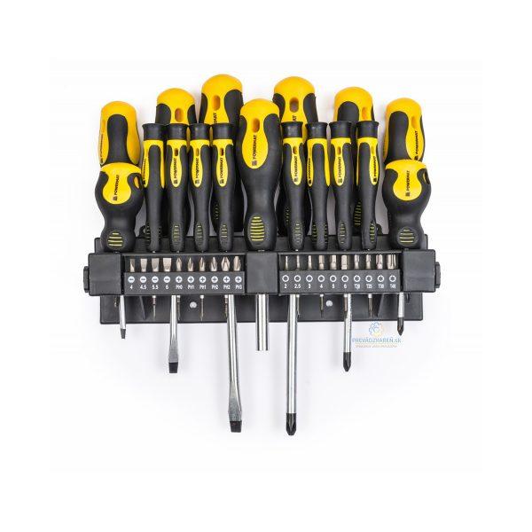 Sada 37 ks skrutkovačov | PM-WK-37Z, obsahuje štandardné a špeciálne skrutkovače s magnetickým ukončením a Cr-V bity