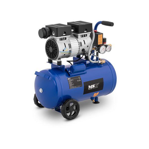 Bezolejový kompresor - 24 L - 8 bar | 550 W, vynikajúce výsledky sa dosahujú pri maximálnom pracovnom tlaku do 8 bar. Obsahuje poistný ventil.