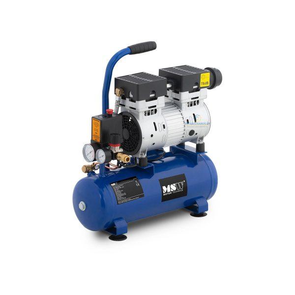 Bezolejový kompresor - 8 L - 8 bar | 750 W, je perfektné zariadenie na nafukovanie kolies alebo nafukovacích člnov. Výkon motora 750 W.