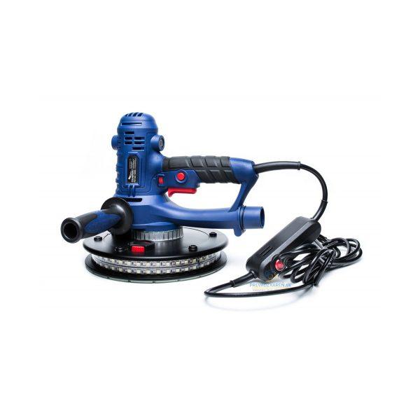Brúska na sadrokartón | PM-DG-1400L Powermat, podsvietenie pod celým obvodom, nastavenie počtu otáčok, protišmykové rukoväte, systém odsávania prachu.