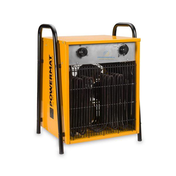 Elektrický ohrievač termostat a ventilátor – 15 kW | Powermat PM-NAG-15E, vykurovací výkon: 7500 W / 15 000 W, Prietok vzduchu: 1090 m3 / h