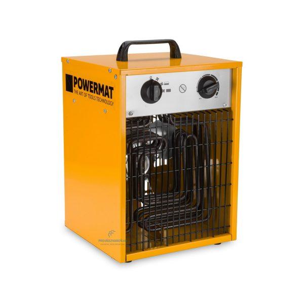Elektrický ohrievač termostat a ventilátor – 6 kW | Powermat PM-NAG-6E, vykurovací výkon: 3 000 W / 6 000 W, napätie : 400V,