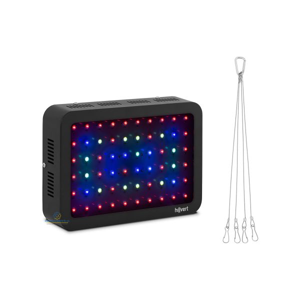 LED osvetlenie pre pestovanie rastlín | 600 W, má šesť typov diód LED znamená, že zariadenie má šesť vlnových dĺžok. 60 LED žiaroviek.