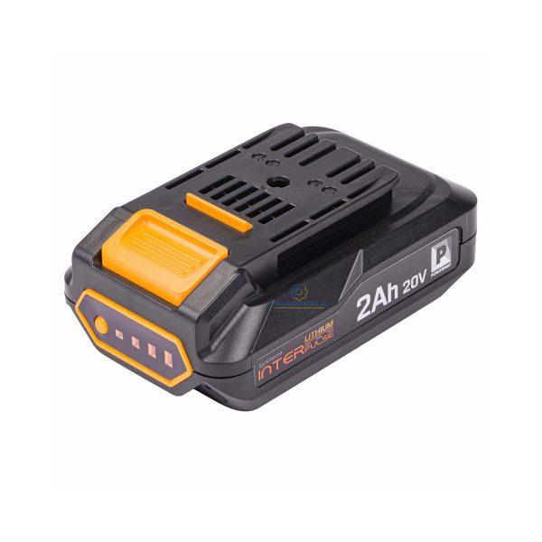 AKU - batéria INTERpulse 20V / 2AH Powermat | PM-IPSA-220C, kompatibilná so zariadeniami Powermat ako sú nožnice na živý plot, dúchadlo, strunová kosačka.