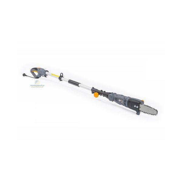 Elektrická vyvetvovacia píla – 240 cm | PM-EPW-1000 - 1000 W, automatické mazanie reťaze, dĺžka lišty 25 cm, teleskopická tyč do 240 cm na rezanie konárov.