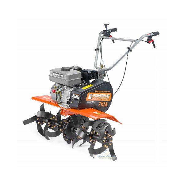 Kultivátor motorový 7,0 HP - šírka 850 mm | PM-GGS-700Y 7KM, 3 úrovňové nastavenie výšky výkon motora: 7 HP ,max.pracovná hĺbka: 150 mm.