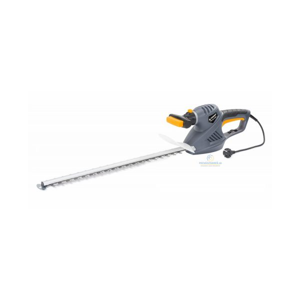 Nožnice na živý plot – elektrické | PM-NE-1600C 51CM 1600W, otočená rukovät o 45 °, pracovná dĺžka nožníc: 510 mm. Hmotnosť: 2,6 kg.