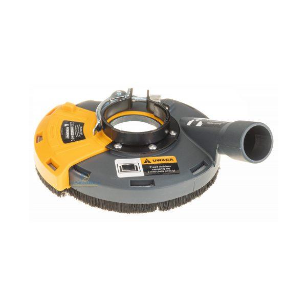 Protiprachový kryt na brúsku 125 mm | PM-OSK-125T, umožňuje efektívne odsávanie škodlivého prachu pri brúsení rovných povrchov. Vnútorný priemer 47 mm.