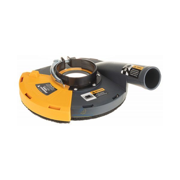Protiprachový kryt na brúsku 230 mm | PM-OSK-180T, umožňuje efektívne odsávanie škodlivého prachu pri brúsení rovných povrchov. Pre uhlove brúsky 230 mm.