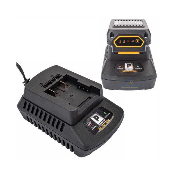 Rýchlo nabíjačka 21V / 2A INTERpule Powermat | PM-IPSC-220C, pre nabíjanie batérií 1,5 Ah až 3 Ah. Má výstupné napätie: 21 V / 2 A a menovitý výkon: 55 W.