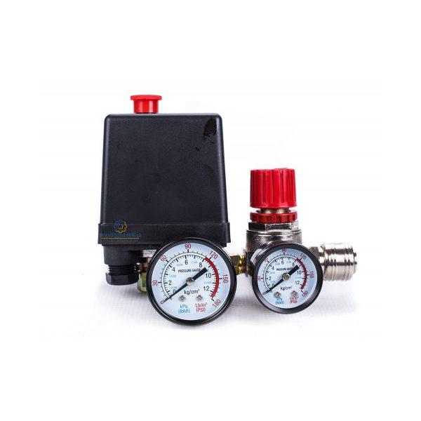 Tlakový spínač pre kompresory | Silver 10677 má maximálny prúd 20A. Tlakový spínač obsahuje pracovný tlak 6-8 bar. 230 V napájanie.