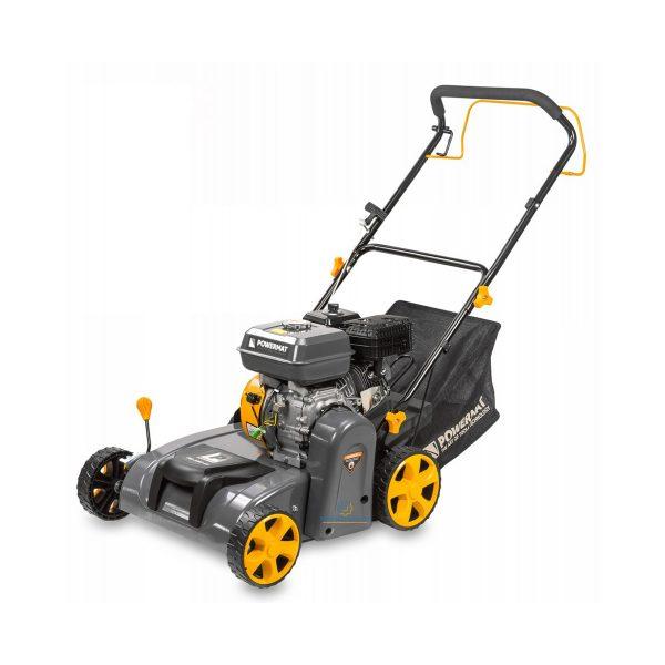 Vertikutátor a trávny prevdzušňovač benzínový 3v1 - 6,5 HP | PM-AWS-65, vertikutácia, prevdzušňovanie a zber trávnika, nastaviteľná výška.