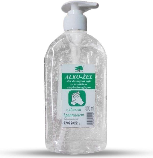 Antibakteriálny gél na ruky 500ml (s aloe vera a panthenolom)