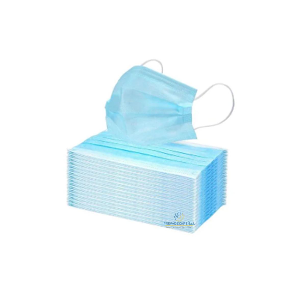Ochranné rúško 3-vrstvové – po 50 ks, ochrana dýchacích ciest proti kvapôčkovým infekciám, 99% účinnosť bakteriálnej filtrácie.