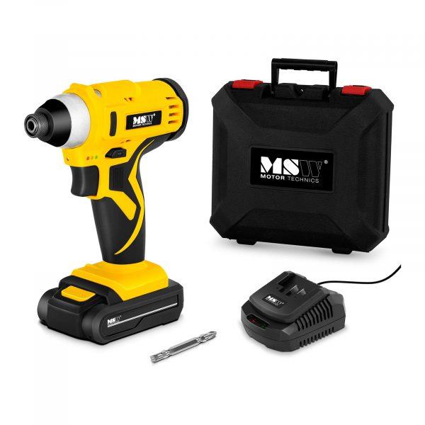 Aku skrutkovač 18V - 120 Nm - batéria - LED | MSW-CIW18V, Jednoduchá obsluha - intuitívny spínač na zmenu smeru otáčania, led osvetlenie pre lepšiu prácu.