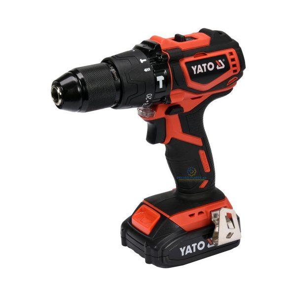 Bezuhlíkový aku skrutkovač 18V | s príklepom, skrutkovanie, vŕtanie, vŕtanie s príklepom, 2-stupňová prevodovka, LED svetlo, kapacita batérie: 2 Ah.