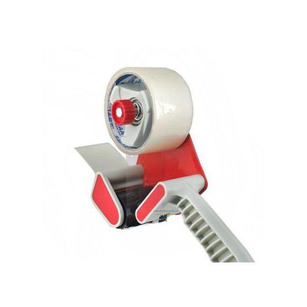 Ručný odvíjač lepiacej pásky | 50mm – plast, pre lepenie obalov, tovaru a krabíc. Určeny pre lepiace pásky až 50 mm široké a 66 m dlhé.