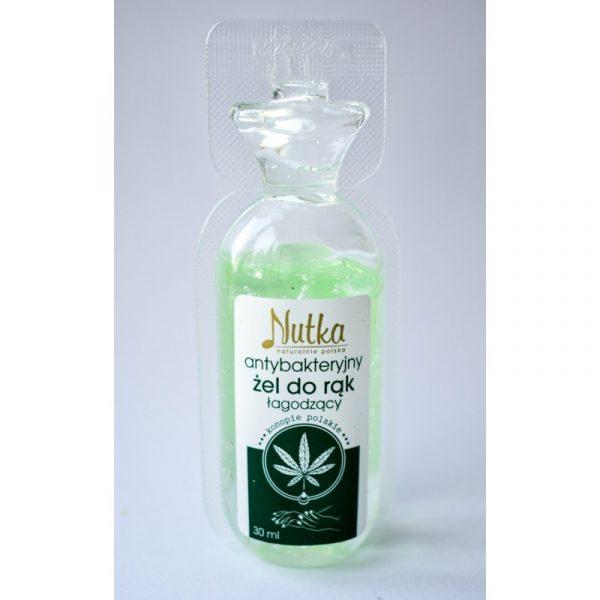Antibakteriálny gél – konopný 30ml, obsahuje konope (Cannabis sativa L.) je zdrojom kanabinoidov, vitamínov, minerálov, bielkovín, aloe, panthenol.