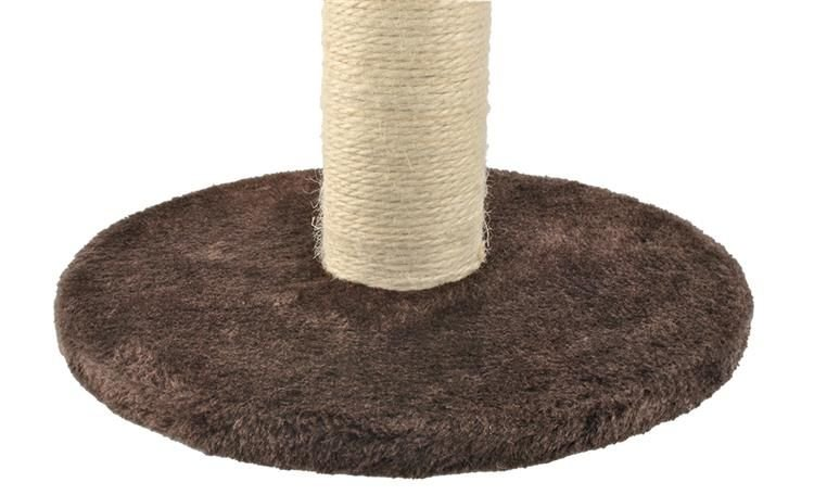 Škrábadlo pre mačky stojan 45 cm | hnedá, pevná a stabilná podstava, vyrobené z prírodného sisalového lana, výborné pre brúsinie pazúrikov mačky.