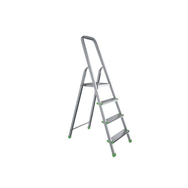 Hliníkový rebrík – jednostranný – 6 stupňov   120 kg, ľahký a zároveň stabilný rebrík, rozmery plošiny 264 × 262 mm, jednoduchá manipulácia.