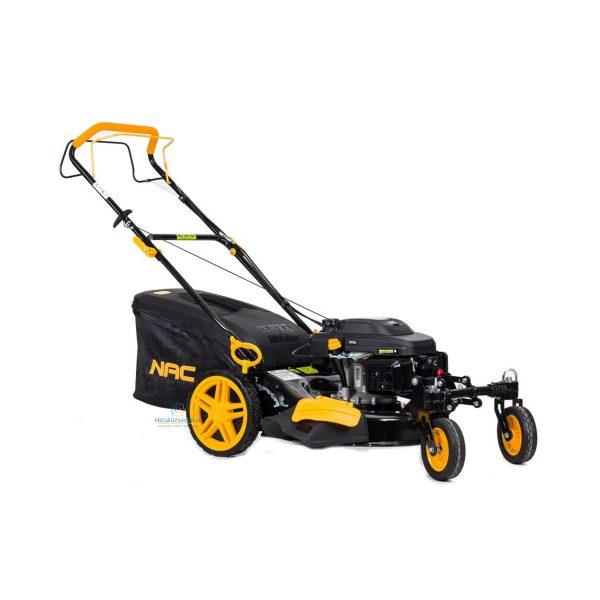 NAC benzínová kosačka s pohonom 159cc | 2 flexi kolesá LS2002, kosenie, zbieranie, mulčovanie trávnika, predné kolesá uľahčujú manévrovanie, výkon 5,5 HP.