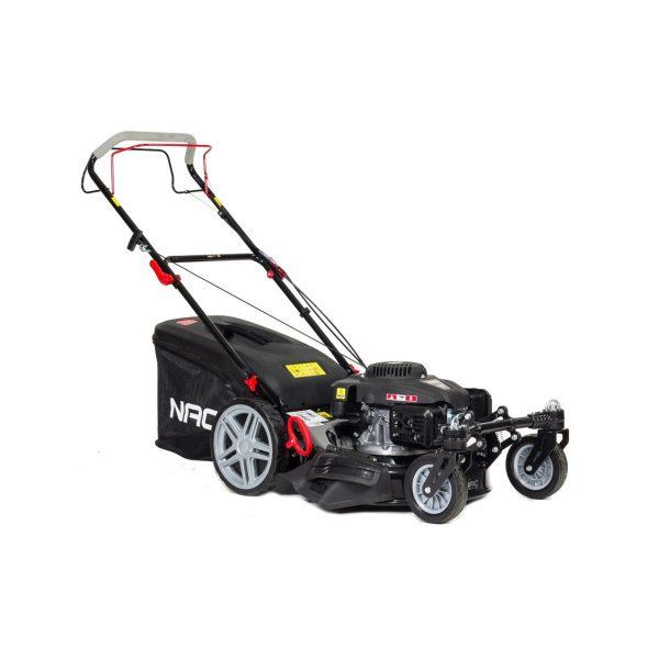 NAC benzínová kosačka s pohonom 166cc | 2 flexi kolesá LS50-166L, šírka kosenia: 51 cm, výška : 25 - 75 mm, kôš: 75 litrov. Mulčovanie a kosenie trávnika.