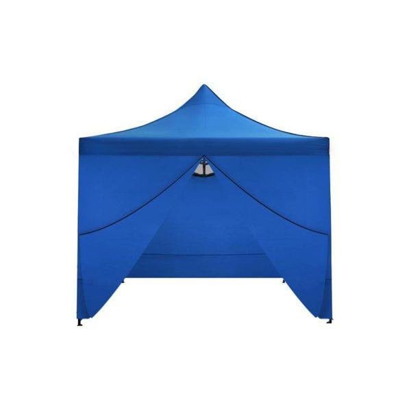 Nožnicový stan 3x3m   4 stenný - modrý, materiál : polyester 800D, Oxford 420D vhodný pre spoločenskej akcie, obecné oslavy, jarmoky, športové podujatia.