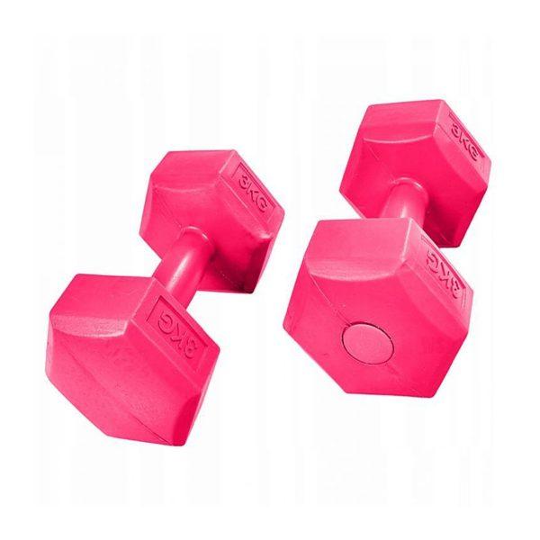 Sada šesťhranných činiek | 2x3 kg FITNESS, ideálne na aerobný a kondičný tréning. Môžete precvičovať ramená a ruky, pohodlné rukoväte.