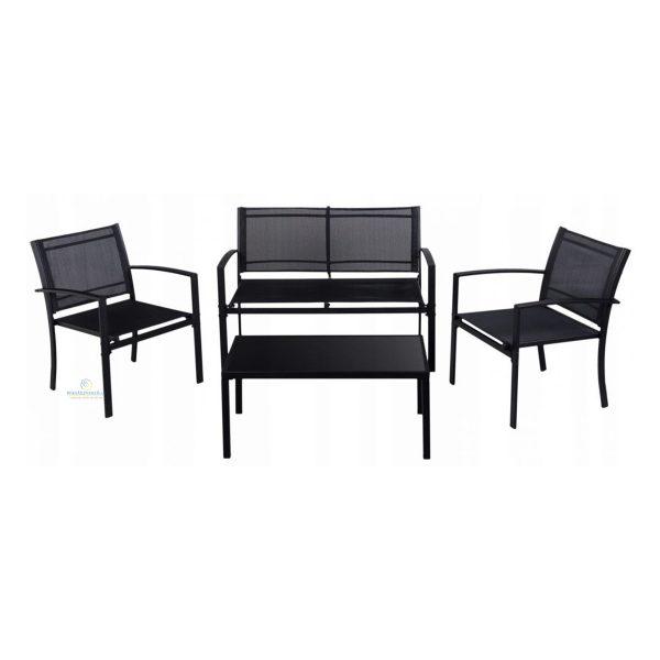 Sada záhradného nábytku 2 stoličky, lavička a stôl | 4 ks, moderná a praktická sada vhodná do každej záhrady, na terasu. Stabilná a pevná konštrukcia.