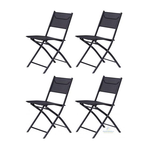Set záhradné stoličky | 4 ks, balkón alebo terasu, moderné stoličky, ktoré sa hodia na každú terasu, balkón, záhradu k stolíkom. Praktické zloženie.
