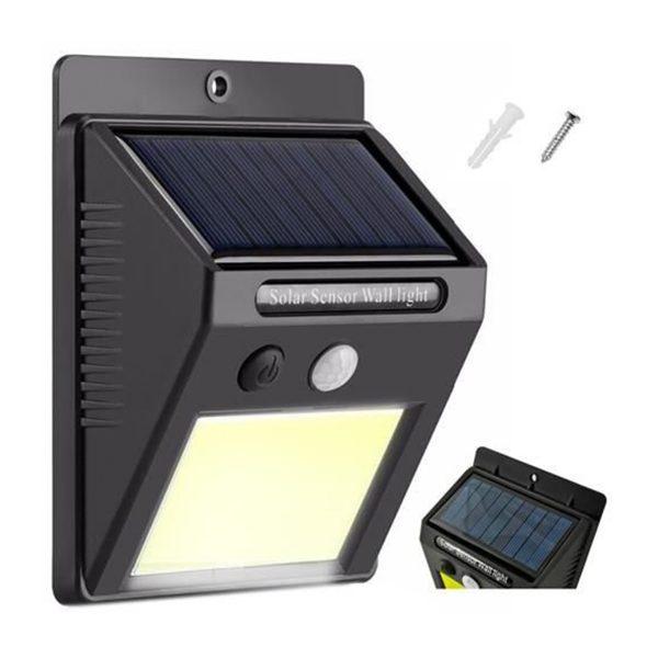 Solárne vonkajšie svetlo 48 LED COB | s pohybovým senzorom, praktické svetlo na osvetlenie vstupných dveri, terás, altánkov, vchodov, poštovných schránok.
