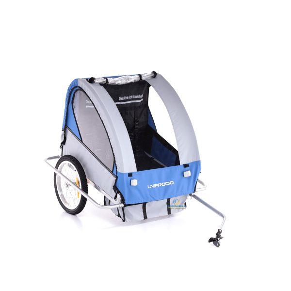 Cyklovozík pre deti 2 miestny | 40 kg, na cyklo túry pre celú rodinu, upínanie na päťbodové bezpečnostné pásy, vodeodolná konštrukcia chráni pred dažďom.
