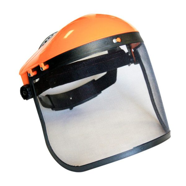 Sieťková ochranná maska na kosenie | MAR-POL M83093, univerzálne ochrana tváre pri použití kosačiek, krovinorezov. Pevná sieťka.