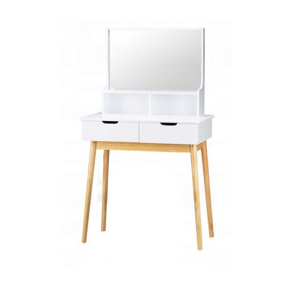 Toaletný stolík s veľkým zrkadlom |Emery, moderný kozmetický stolík, bytový doplnkok do spálne alebo obývacej izby, pre každú modernú dámu.