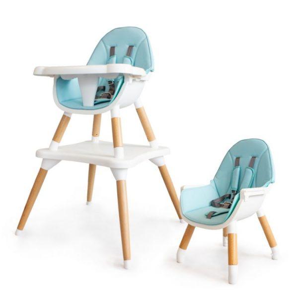 Detská jedálenská stolička, stôl - 2v1 modrá