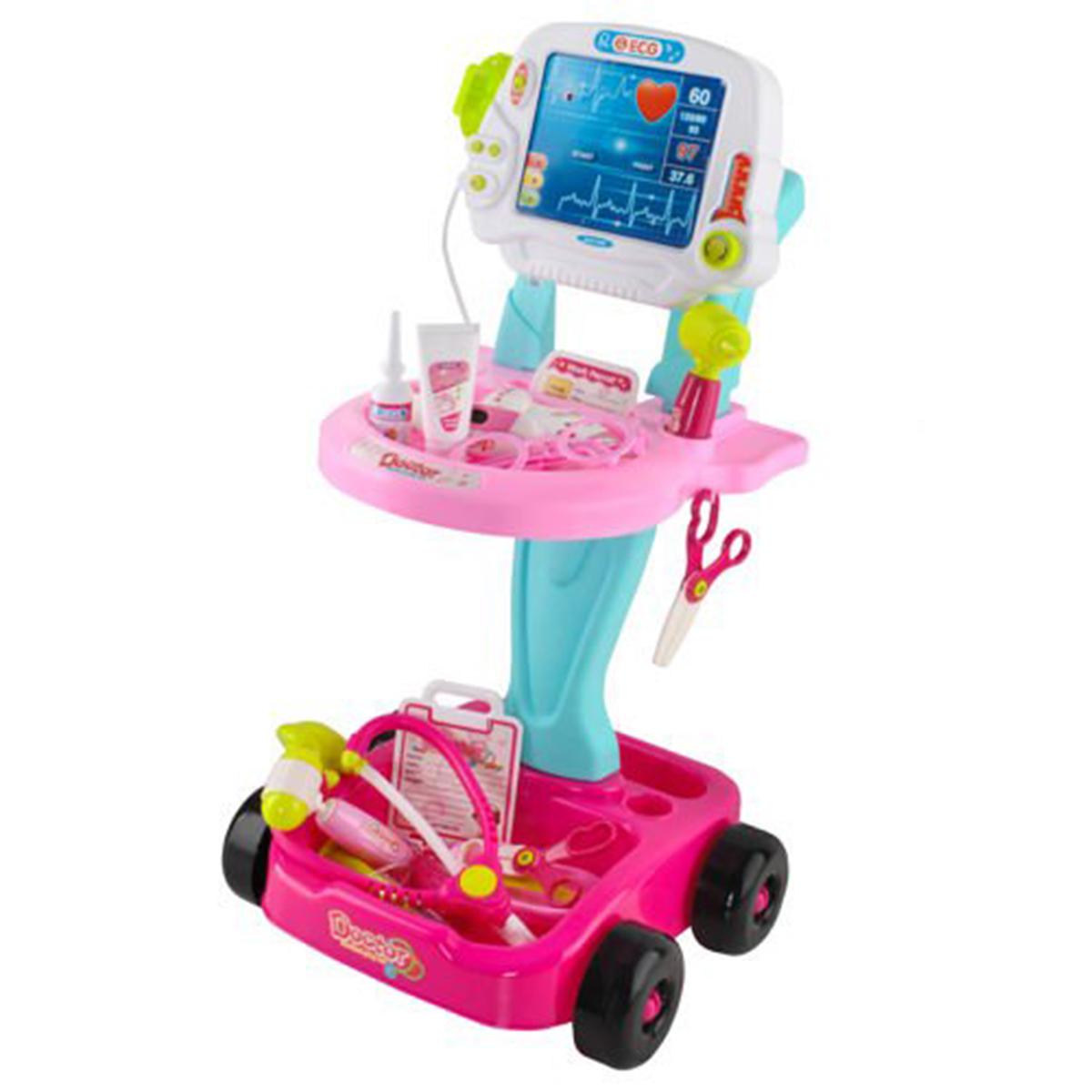Detský lekársky vozík | ružový