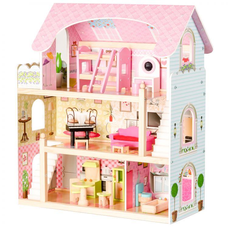 Drevený domček pre bábiky | + 4 bábiky
