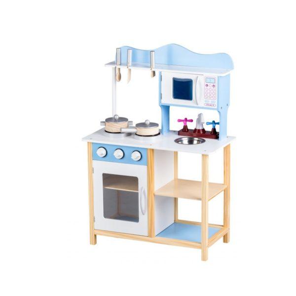 Drevená kuchynka SALI + príslušenstvo | modrá MUTK040 BLUE