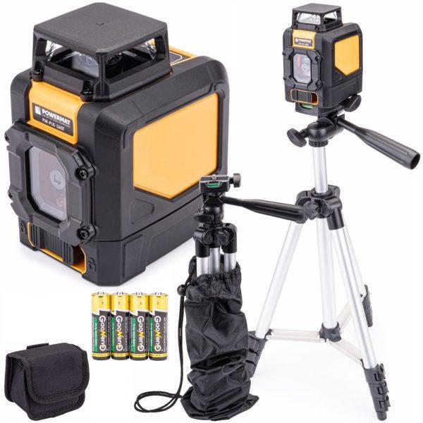 Krížový laser na úrovni 360 ° + statív a puzdro na prenášanie - PM-PLK-360T