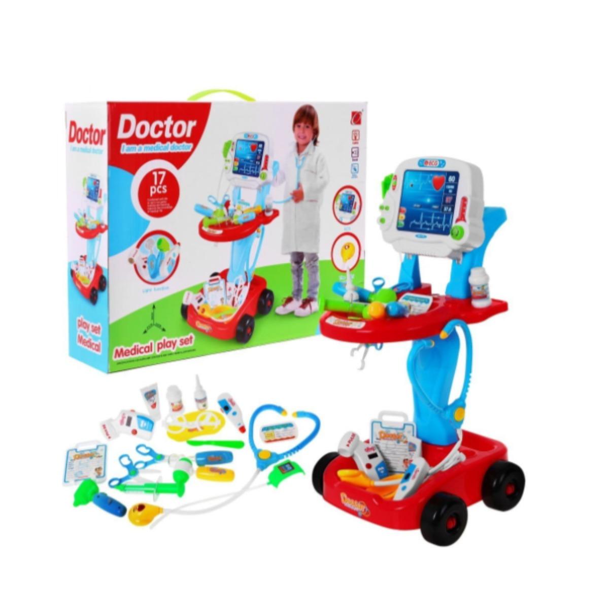 Detský lekársky vozík | červený