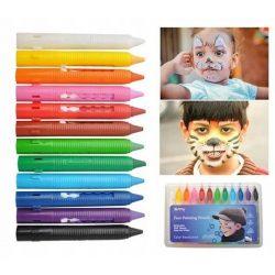 Farby na maľovanie tváre | 12 farieb obsahuje 12 farebných ceruziek v intenzívnych odtieňoch. Farby sú netoxické.